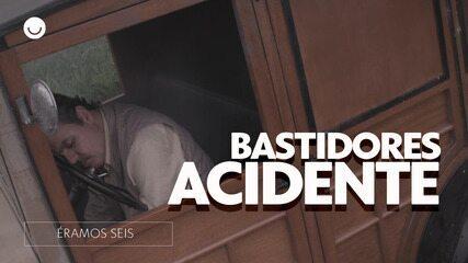 Confira os bastidores do acidente do Afonso em 'Éramos Seis'