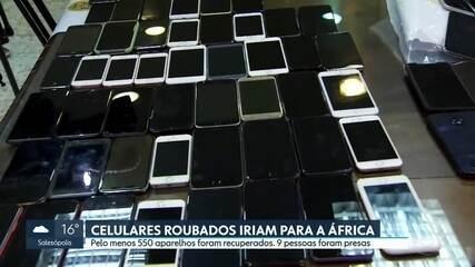 Polícia recupera pelo menos 550 celulares roubados que iriam para a África