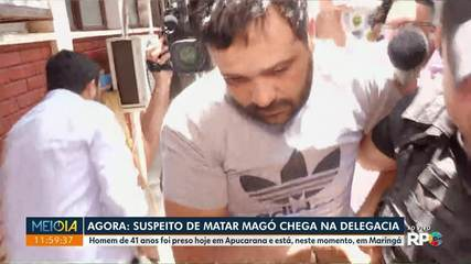 Suspeito de matar Magó chega à delegacia de Maringá