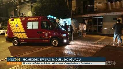 Polícia investiga um homicídio em São Miguel do Iguaçu