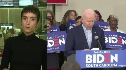 Pesquisas apontam que Joe Biden ganhou prévia democrata na Carolina do Sul