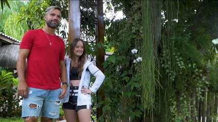 Enquanto espera estreia na Libertadores, Diego tem encontro especial com a fã Maju