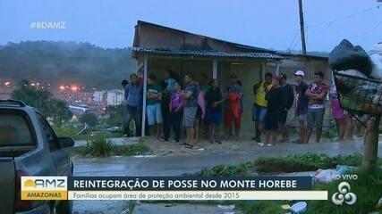 Polícia monta barreiras na invasão Monte Horebe em Manaus para reintegração