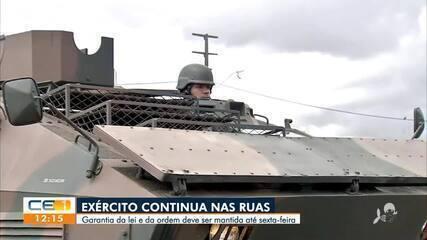 Em fevereiro, quando policiais entraram em greve no Ceará, Exército utilizou blindados para fazer patrulha nas ruas de Fortaleza
