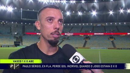 """Paulo Sérgio assume responsabilidade por gol perdido: """"Foi determinante"""""""