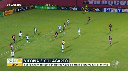 Vitória vence o Lagarto e avança para a próxima fase da Copa do Brasil