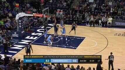 Melhores momentos: Orlando Magic 132 x 118 Minnesota Timberwolves pela NBA
