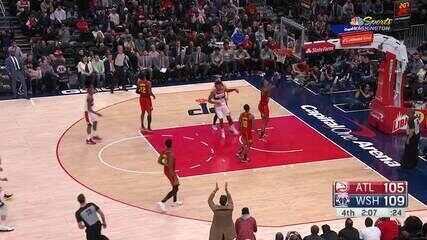 Melhores momentos: Washington Wizards 118 x 112 Atlanta Hawks pela NBA
