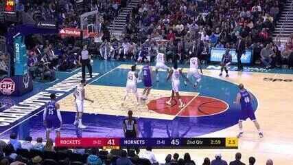Melhores momentos: Charlotte Hornets 108 x 99 Houston Rockets pela NBA