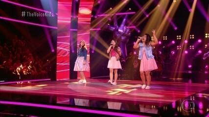 Ana Clara Martins, Giovanna Diniz e Maria Eduarda Ribeiro cantam 'Samba de Verão'