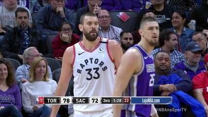 Melhores Momentos: Sacramento Kings 113 x 118 Toronto Raptors