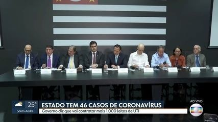 Governo de SP vai contratar leitos de UTI para tratar doentes graves de coronavírus