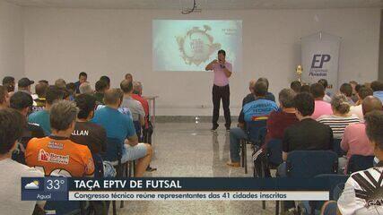 Congresso técnico da taça EPTV de futsal reúne representantes das 41 cidades inscritas