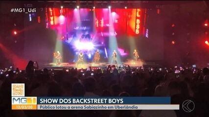 Backstreet Boys agitam milhares de fãs no primeiro show da turnê em Uberlândia