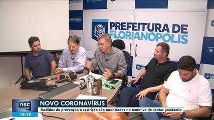 Florianópolis terá eventos cancelados; veja outras medidas contra o coronavírus