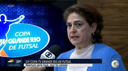 Diretora do Sistema Grande Rio fala sobre adiamento da Copa TV Grande Rio de Futsal