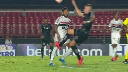 Melhores momentos de São Paulo 2 x 1 Santos, pelo Paulistão: o último jogo antes da paralisação