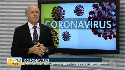 Secretário de Saúde da PB fala sobre as medidas de prevenção ao coronavírus