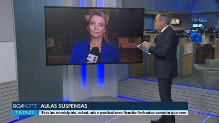 Escolas municipais e estaduais ficarão fechadas semana que vem em Curitiba