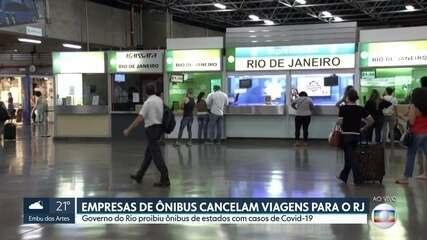 Empresas cancelam ônibus para o Rio de Janeiro