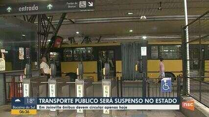 Após decreto, transporte público para de funcionar em Joinville