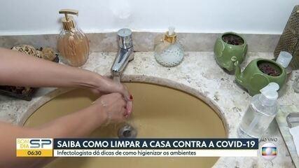 Dicas para higienizar a casa contra o novo coronavírus