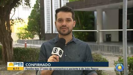 Paraíba registra 1º caso confirmado de coronavírus, diz secretaria