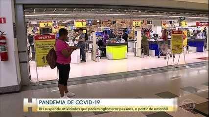 Minas adia cirurgias eletivas; BH fecha shoppings, bares e restaurantes amanhã