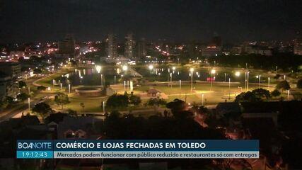 Comércio de Toledo deve fechar as portas