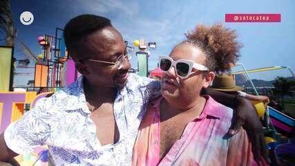 Gominho entrevista Ludmilla e Mumuzinho nos bastidores do SóTocaTop Verão