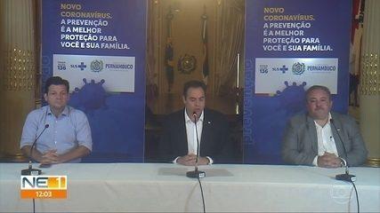 Governo de Pernambuco determina fechamento de comércio, serviços e obras de construção