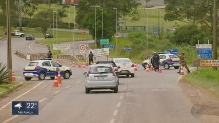 Decreto que fecha entradas da cidade para turistas entra em vigor em Poços de Caldas (MG)