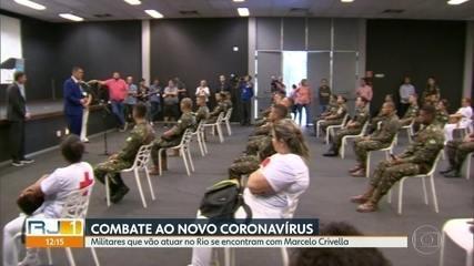 Militares do Exército e da Marinha vão atuar no atendimento de pacientes com coronavírus