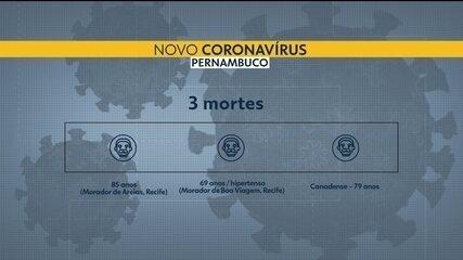 Sobe para três número de mortes pelo novo coronavírus em Pernambuco