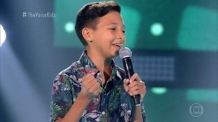 Melhores Momentos Audições ás Cegas: Benício Abraão canta 'O Caderno'