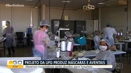 UFG produz máscaras e aventais hospitalares que serão doados hospitais