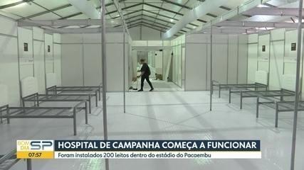 Após dez dias de obras, Hospital da Campanha do Pacaembu será entregue nesta quarta-feira