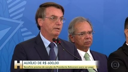 Coronavírus: Bolsonaro diz que anuncia nesta quarta sanção de auxílio de R$ 600