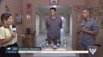 Álcool líquido 70% volta a ser vendido, mas especialistas recomendam cuidados