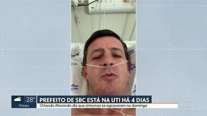 Prefeito de São Bernardo do Campo grava vídeo falando sobre a Covid-19