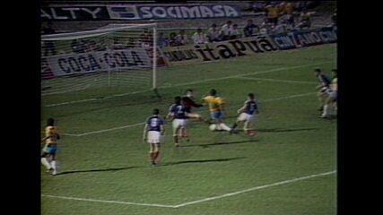 Gol Zico Brasil x Iugoslávia 1986