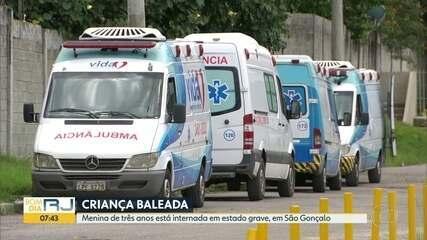 Menina de 3 anos é baleada em São Gonçalo