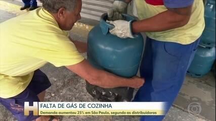 Gás de cozinha está em falta em São Paulo