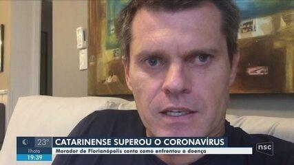 Morador de Florianópolis que se recuperou do coronavírus relata experiência