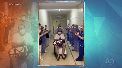 Equipe médica presta homenagem a paciente curado do coronavírus no interior de São Paulo