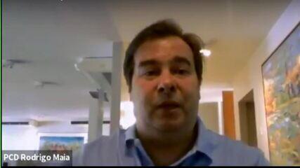 Rodrigo Maia comenta tensão envolvendo a manutenção de Mandetta