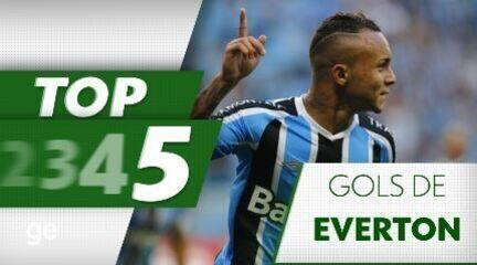 Veja o top 5 gols de Everton pelo Grêmio