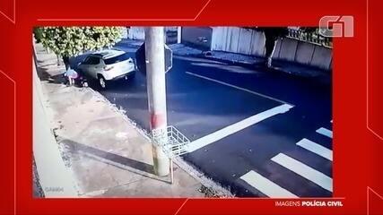 Câmeras flagraram momento do acidente
