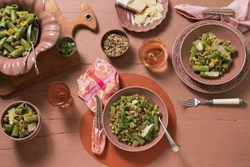 Salada de macarrão com cogumelo