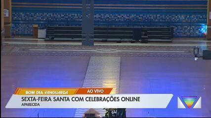 Sexta Santa tem celebrações sem a presença de fiéis no Santuário Nacional de Aparecida